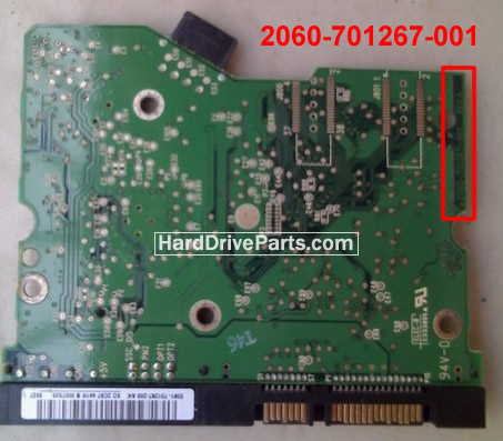 WD2500SD Western Digital Controller Board 2060-701267-001