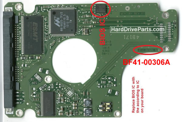 HM321HI Samsung платы электроники жесткого диска BF41-00306A