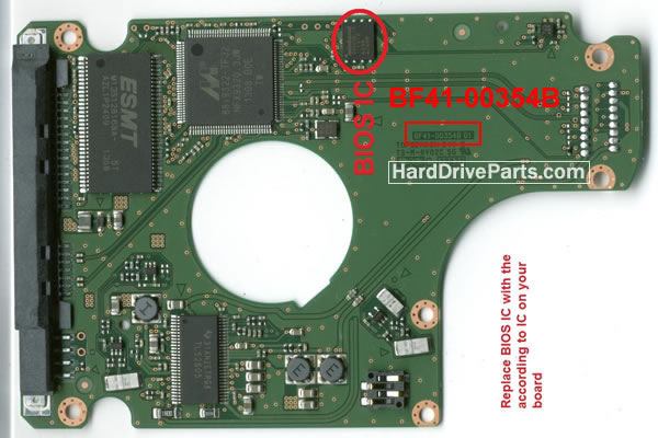 HM-M101BB/Z4 Samsung платы электроники жесткого диска BF41-00354B