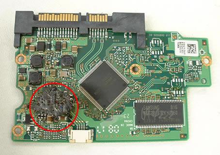 ремонт платы жесткого диска
